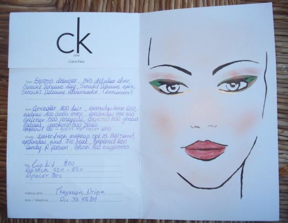 To face chart του μακιγιάζ μου, με την αναλυτική λίστα όλων των προϊόντων.  © beautyworkshop.gr