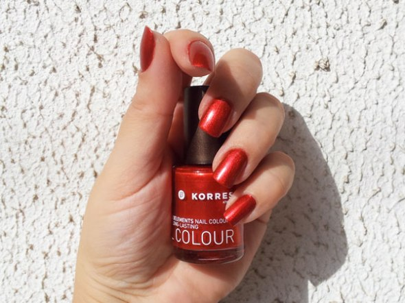 Korres, Metallic Red No56 © beautyworkshop.gr