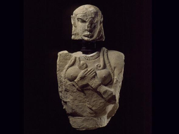 Ταφικό άγαλμα από μάρμαρο.