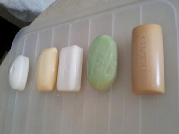 Τα σαπούνια πριν το πείραμα © beautyworkshop.gr
