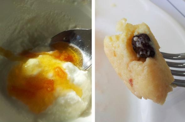 Πρόβειο γιαούρτι με μαρμελάδα πορτοκάλι (αριστερά) και χαλβάς πολίτικος -ο ίδιος ο σεφ με ενημέρωσε πως η συνταγή είναι του Στέλιου Παρλιάρου, αλλά και η εκτέλεση ήταν άψογη © beautyworkshop.gr