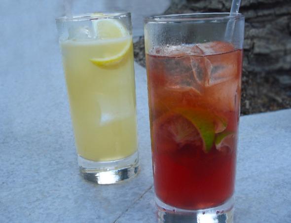 Τα δύο Chivas cocktails που δημιουργήθηκαν αποκλειστικά για την εκδήλωση © beautyworkshop.gr