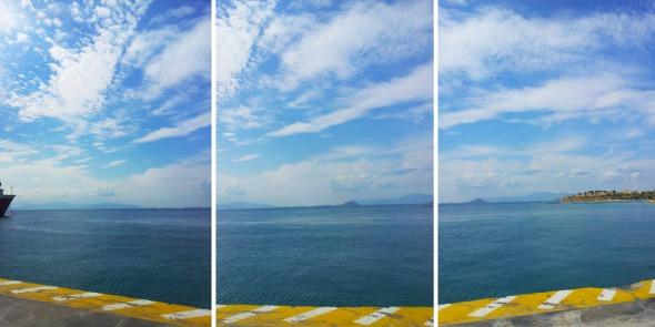Εκείνη την ημέρα είχε έναν πραγματικά υπέροχο ουρανό σε ένα φωτεινότατο μπλε χρώμα που έσπαγε από σύννεφα και συννεφάκια. Το τρίπτυχο της φωτογραφίας είναι μια όχι ιδιαιτέρως επιτυχημένη προσπάθεια πανοραμικής λήψης. © beautyworkshop.gr