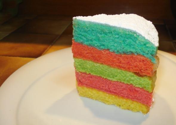 Rainbow cake! Ευκολότατο, και η συνταγή εδώ: http://wp.me/p2BQA2-1uF