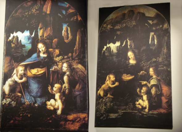 Ο Leonardo είχε τη συνήθεια να φτιάχνει πολλές εκδοχές από το ίδιο έργο, οι περισσότερες από τις οποίες έμεναν ημιτελείς. Η Παναγία των Βράχων είναι ένα από αυτά τα έργα. © beautyworkshop.gr