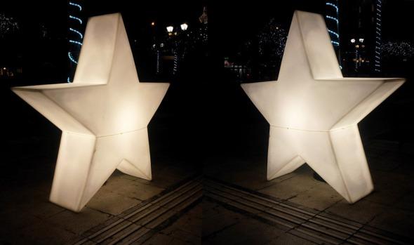 Με αυτές τις 2 φωτογραφίες, μου συνέβει ό,τι και με το Χαμογέλα της αρχής: τις έχω τραβήξει από τα Χριστούγεννα στο Σύνταγμα, και δεν είχα βρει μια καλή αφορμή για αν τις αναρτήσω. Η φόρμα σιλικόνης αστέρι που χρησιμοποίησα για το χαλβά ήταν μια χαρά αφορμή... © beautyworkshop.gr