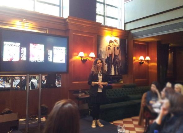 Η Έλενα κράτησε αμείωτο το ενδιαφέρον μας στη φετινή παρουσίαση της Maybelline (Φεβρουάριος 2014) © beautyworkshop