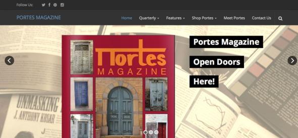 Οι Ποrtes είναι ένα πολύ ενδιαφέρον περιοδικό για τον ελληνισμό του εξωτερικού, πίσω από το οποίο βρίσκονται δύο γλυκύτατες Ελληνίδες, και ήταν χορηγός επικοινωνίας της έκθεσης. Αν και υπήρχε σε έντυπη μορφή στην έκθεση, αμέλησα να πάρω αντίτυπο και η φωτογραφία που έβγαλα δεν ήταν καλή -αυτό που βλέπετε είναι screenshot από το site τους. Για περισσότερα, επισκευτείτε http://www.portesmagazine.com/